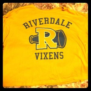 Tops - Yellow cropped Riverdale t-shirt